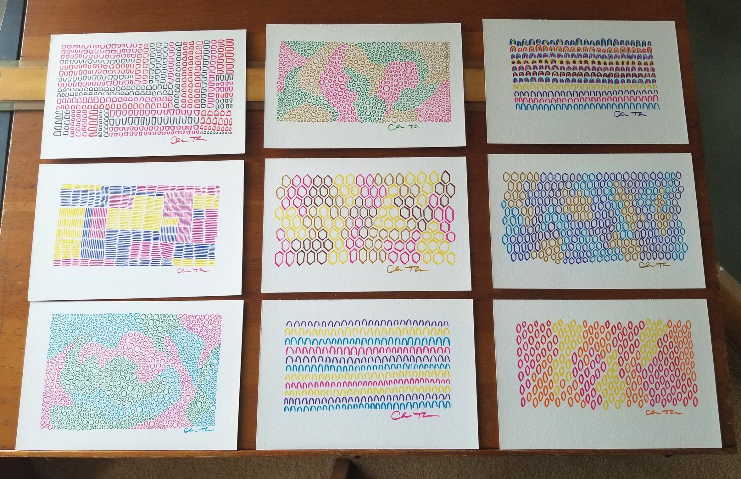 Drawings from my 100 Days of COLOR artwork project