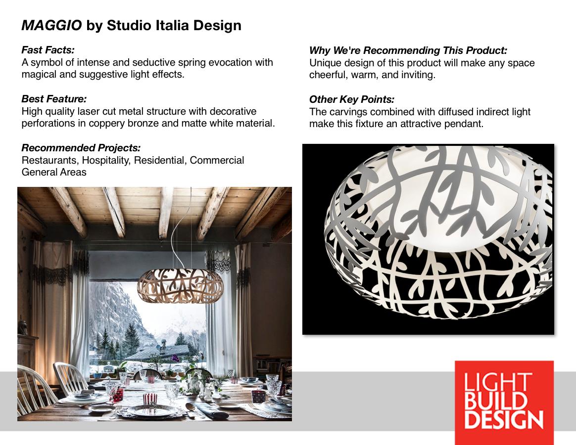 Maggio Studio Italia Design Light Build Design