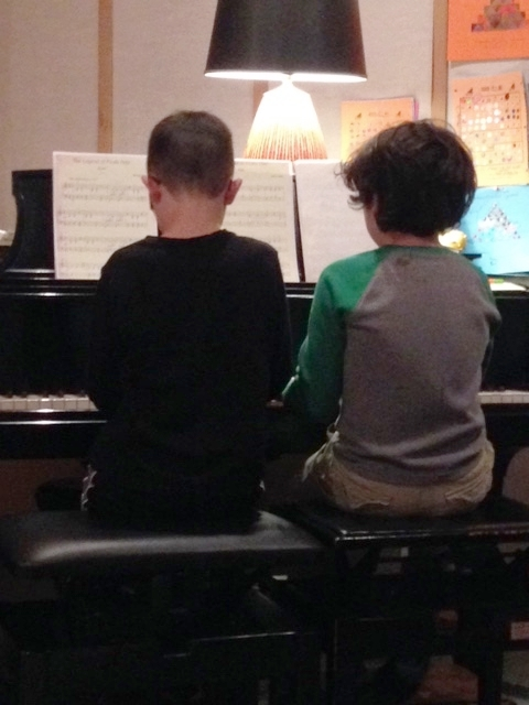 All children play duets