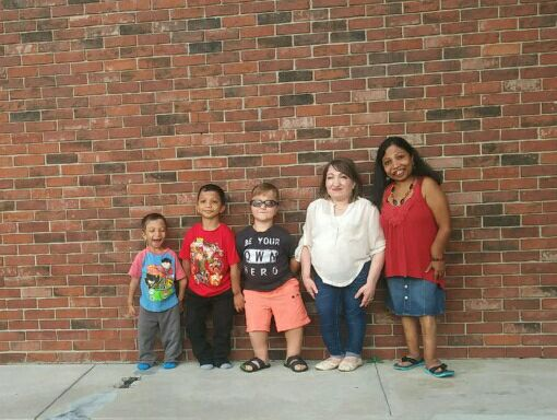 Left to right: Jahan Adam (6), Arshaan Adam (9), Levi Krystosek (11), Michel Straley (22), and Neena Nizar (39). The only 5 genetically confirmed Jansen's Warriors in America meet for the first time.