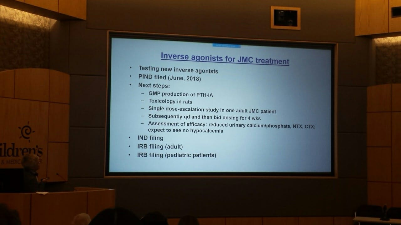Jansen's Disease road map to a treatment.