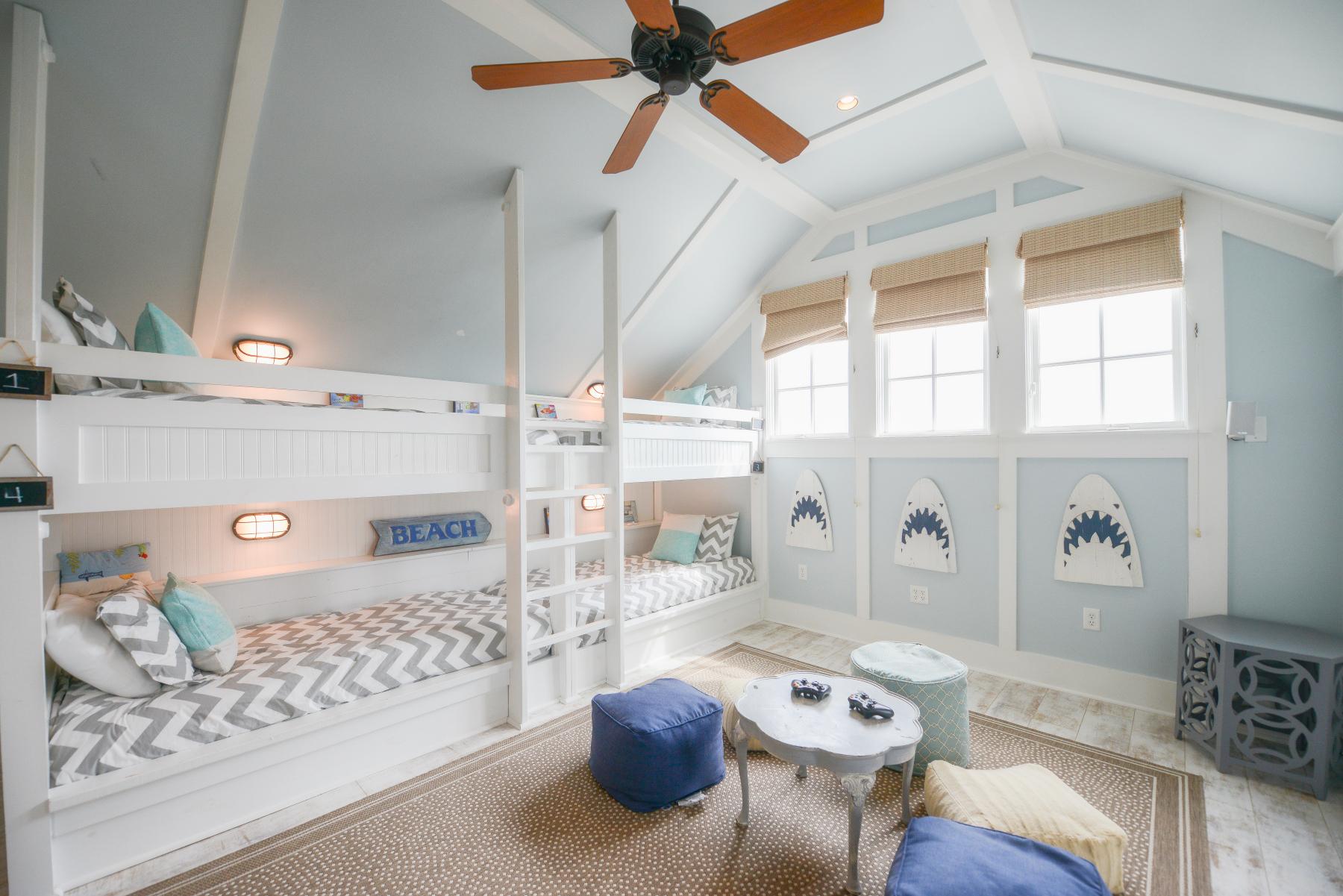 Watercolor florida beach house bunkbed room.jpeg