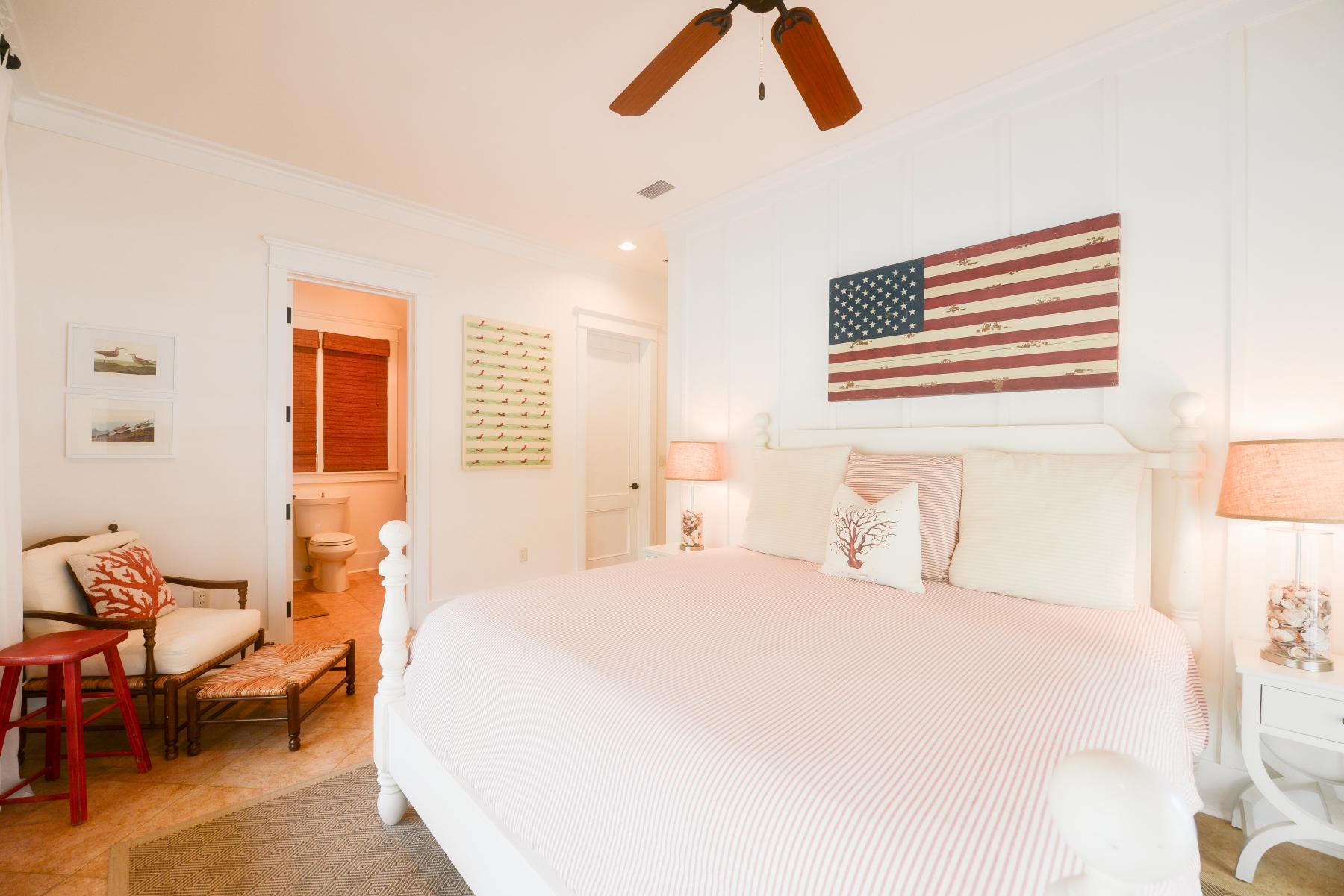 Watercolor florida beach house king flag room.jpeg