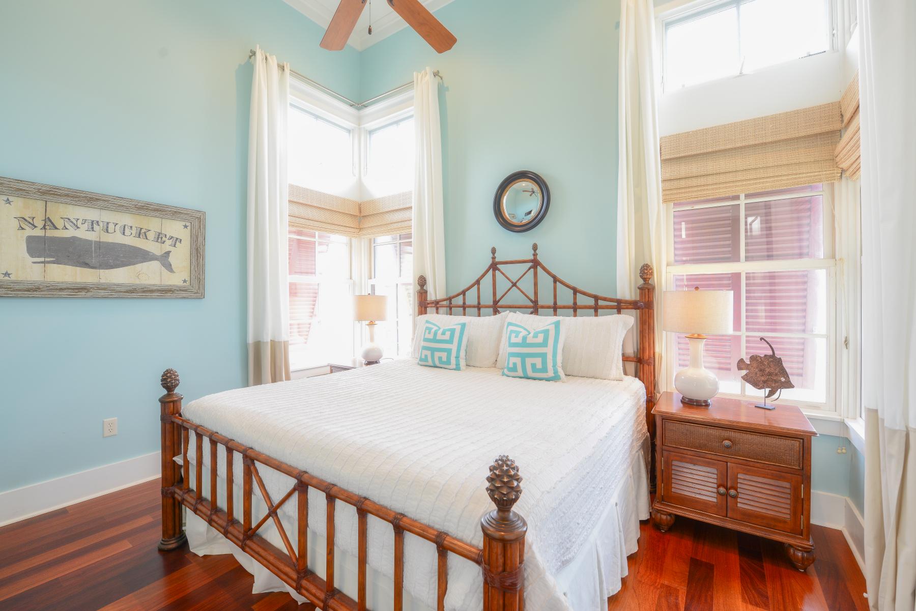 Watercolor Florida beach house carriage house bedroom.jpeg