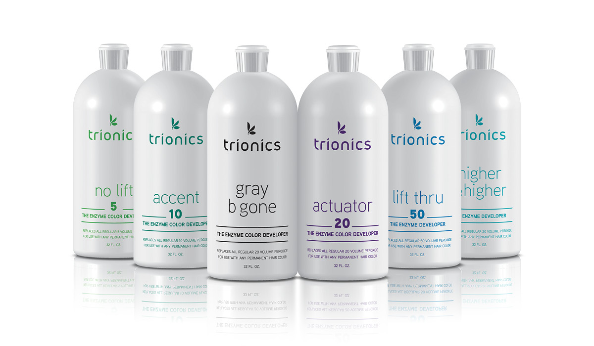 Trionics makes developers for every level of lift: No Lift for deposit only, Accent for one level of lift, Gray B Gone which is a 17 volume for just the right balance of lift/deposit for gray coverage, Actuator for 2-3 levels of lift, Lift thru which is the highest volume that is safe for on scalp usage, and Higher & Higher for 5-8 levels of lift for off scalp use only.