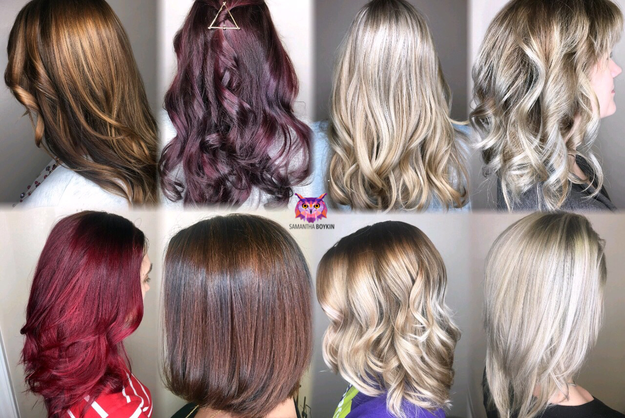Some of the beautiful diverse colors I have created using my Trionics Hair Care products.