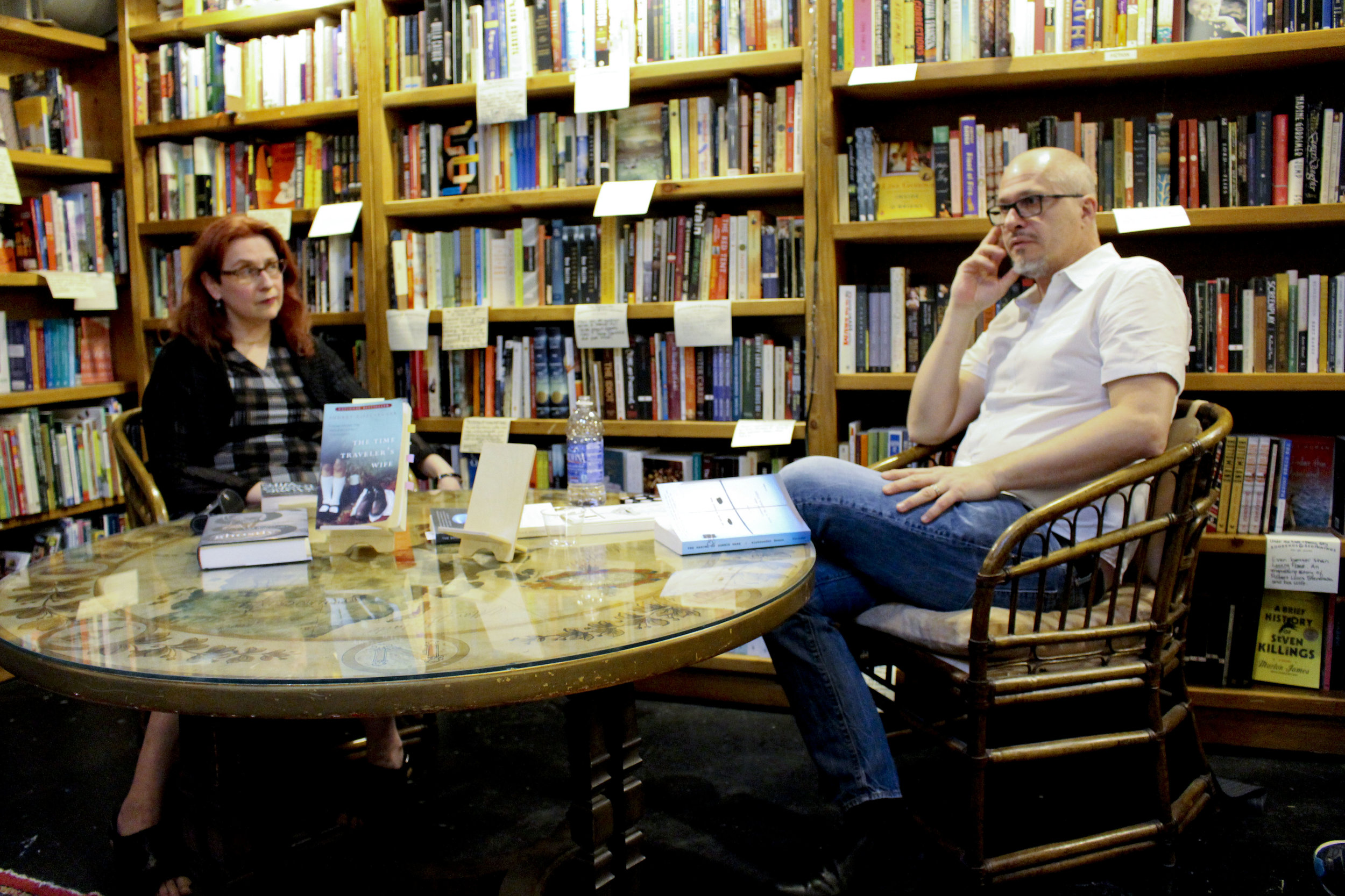 Audrey Niffenegger and Aleksandar Hemon at Bookends & Beginnings.