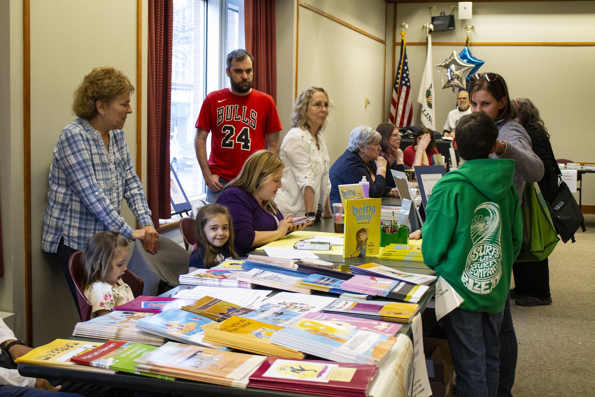 The Evanston Literary Festival Book Fair.