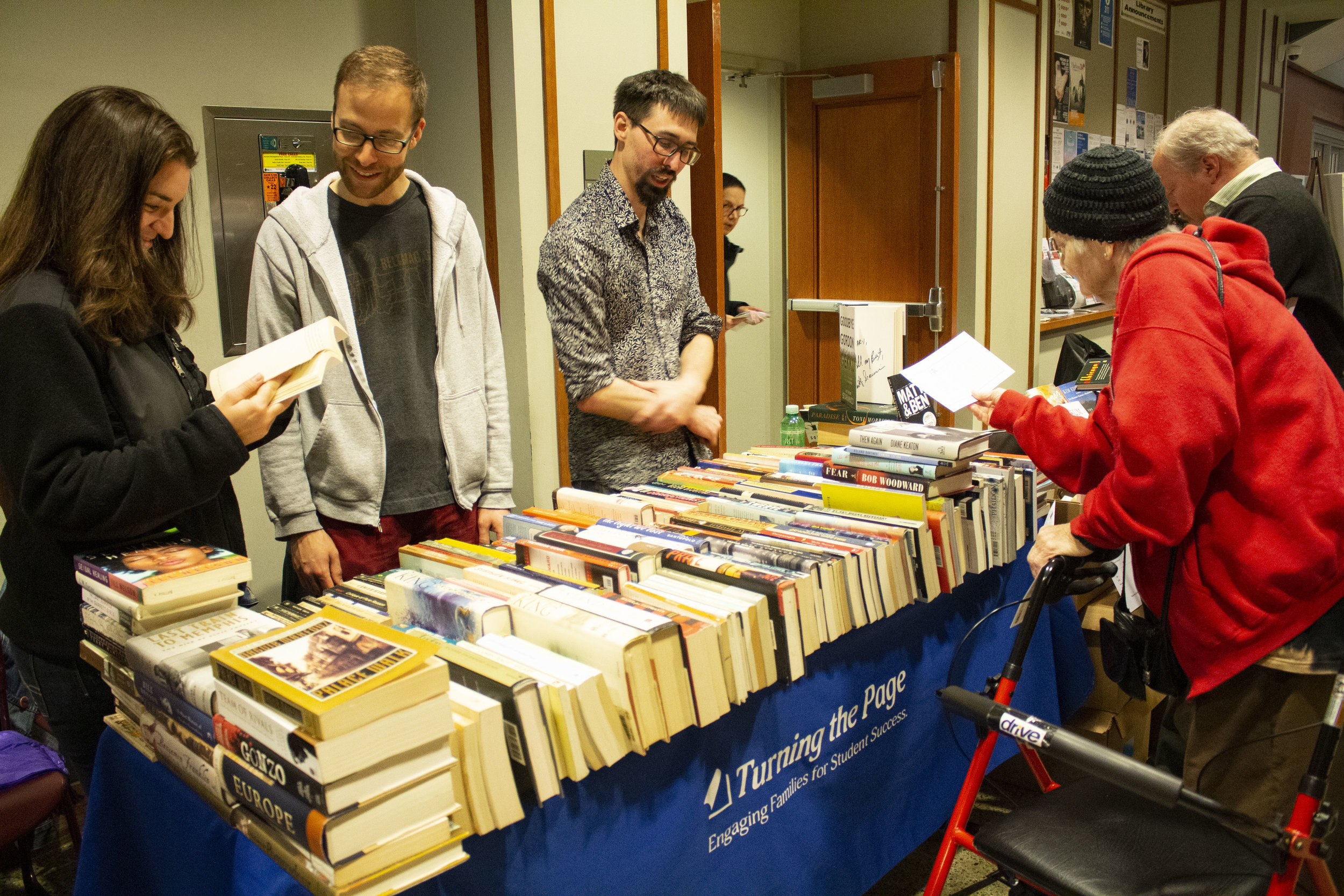 Turning the Page at the Evanston Literary Festival Book Fair.
