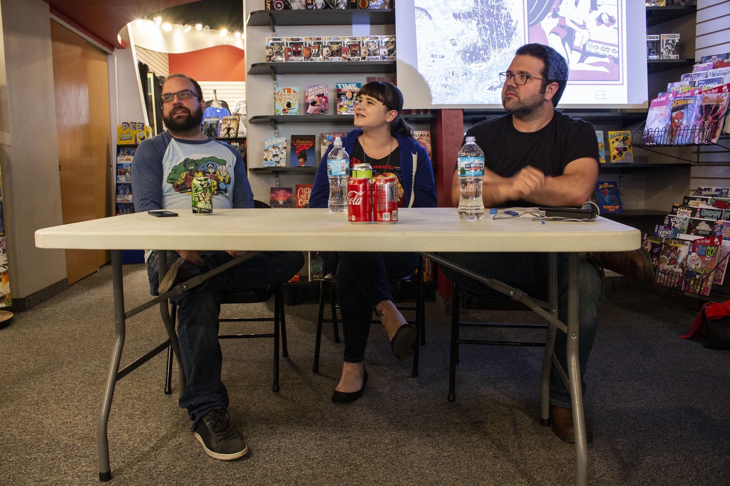 Tim Seeley (Hack/Slash), Corinne Halbert (Cursed Woman), and Dave Kelly (Tales of the Night Watchman) discuss the comics that scare us at Comix Revolution.