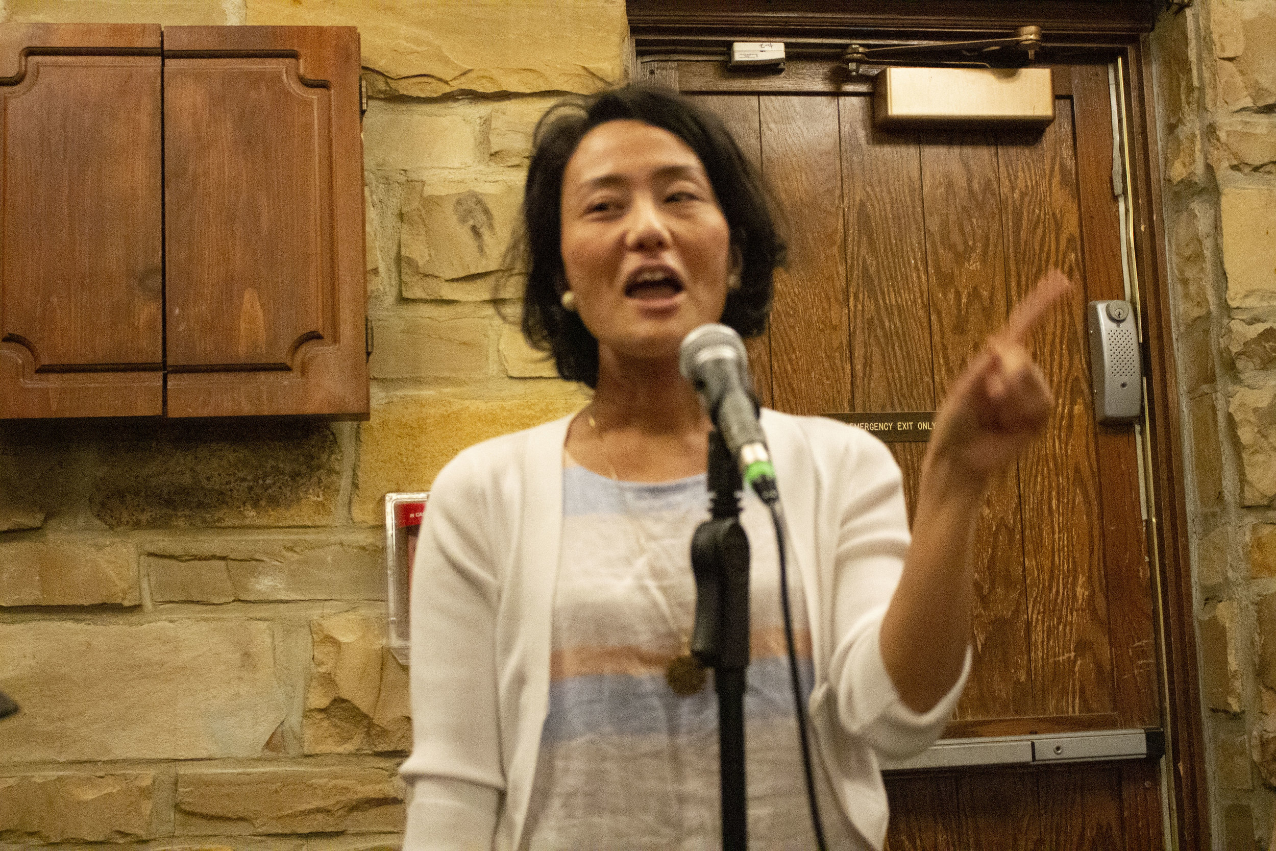 Rhino Poetry editor Naoko Fujimoto.