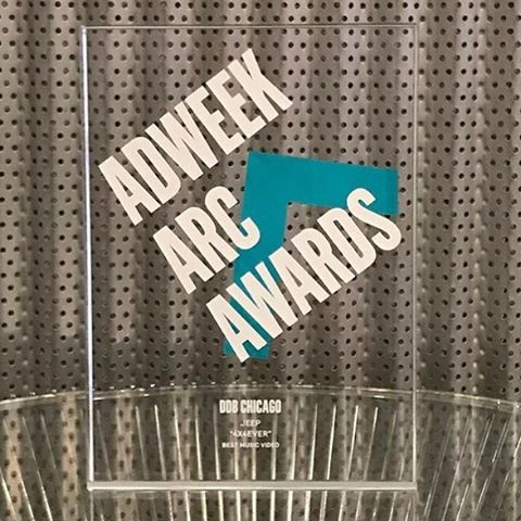 @jeep 4X4Ever wins 2017 @adweek Arc Award for Best Music Video. @ddbchicago crushed. Thanks for making SOUTH a part of the fun guys. 🙏🏼 #musicmakestheworldgoround #awardwinning