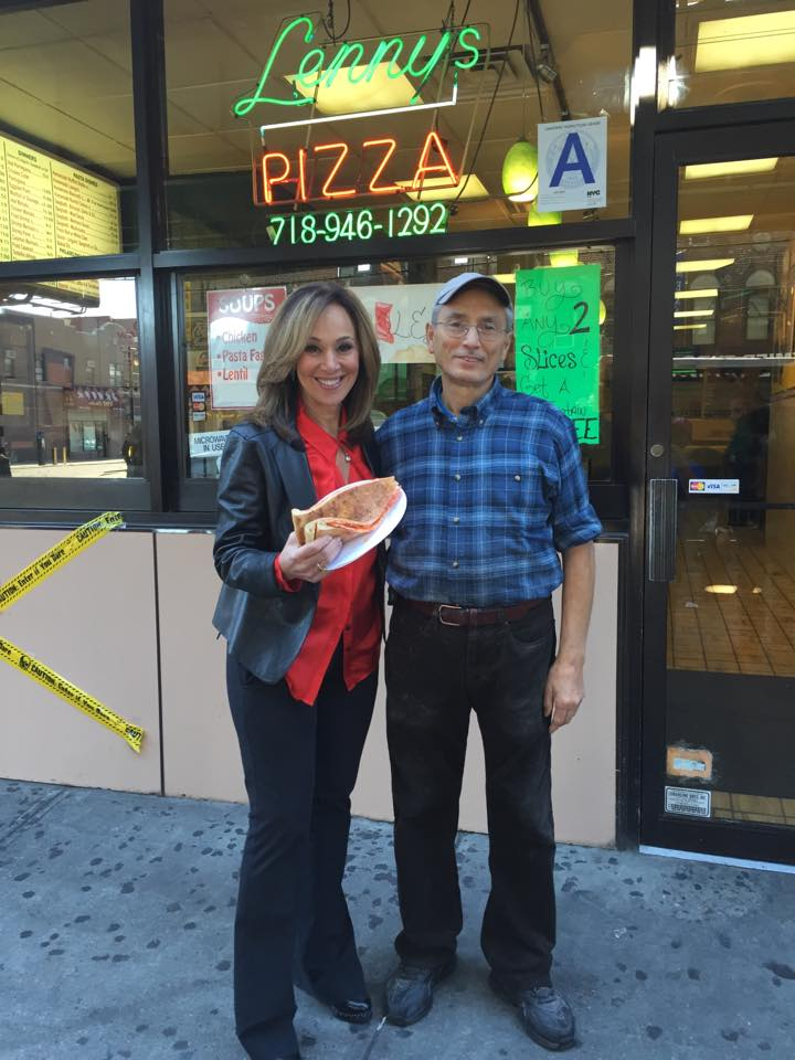 Rosanna Scotto from Good Day New York Stopping by for a double decker.