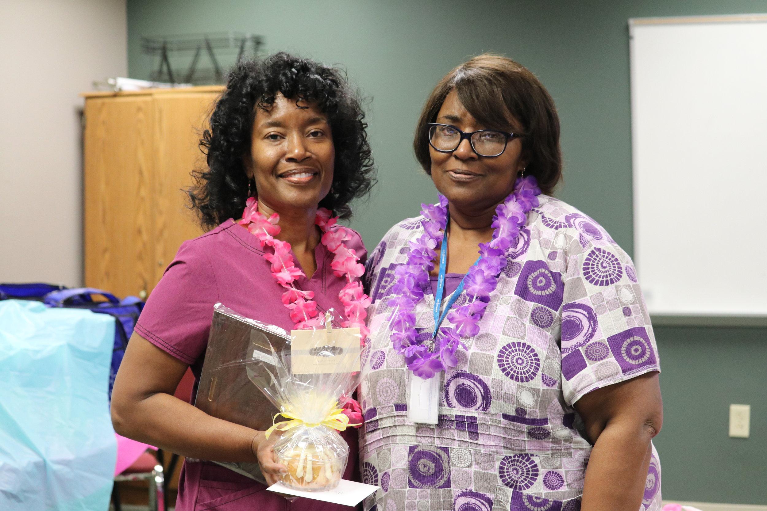 Ms. Pollard, School Nurse Supervisor [left], and Ms. Williams