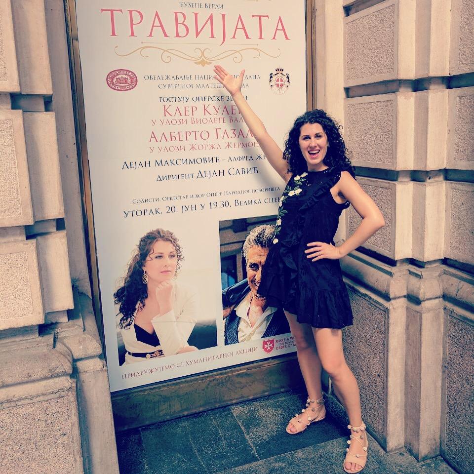 In front of National Theatre in Belgrade