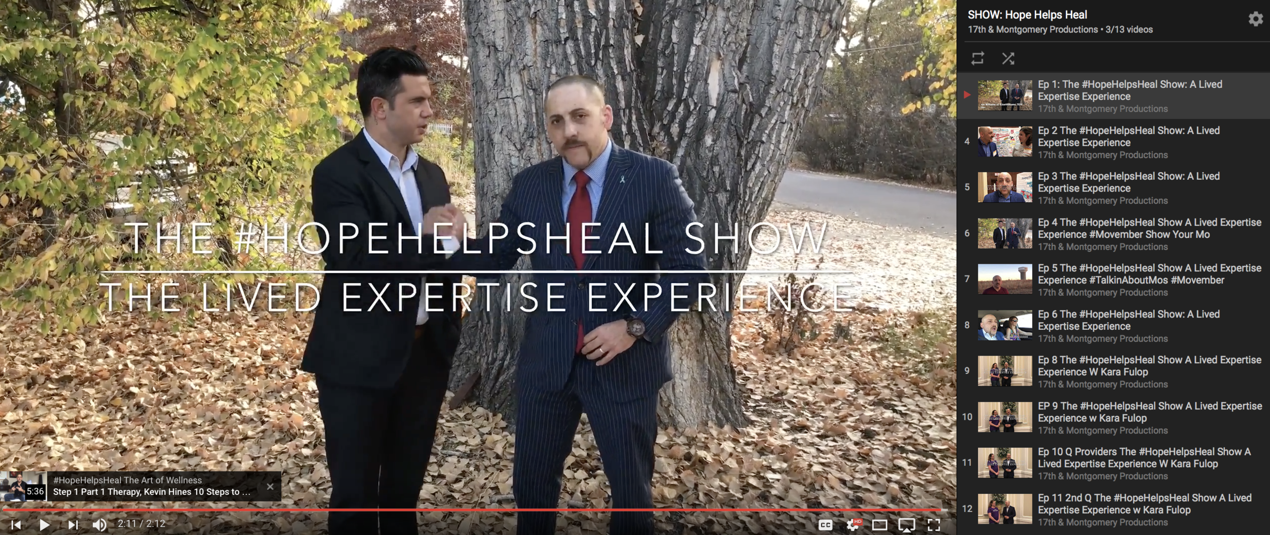 #HOPEHELPSHEAL   The #HopeHelpsHeal Show A Lived Expertise Experience. Join Kevin and a group of inspiring advocates as they talk all things mental wellness and suicide prevention.