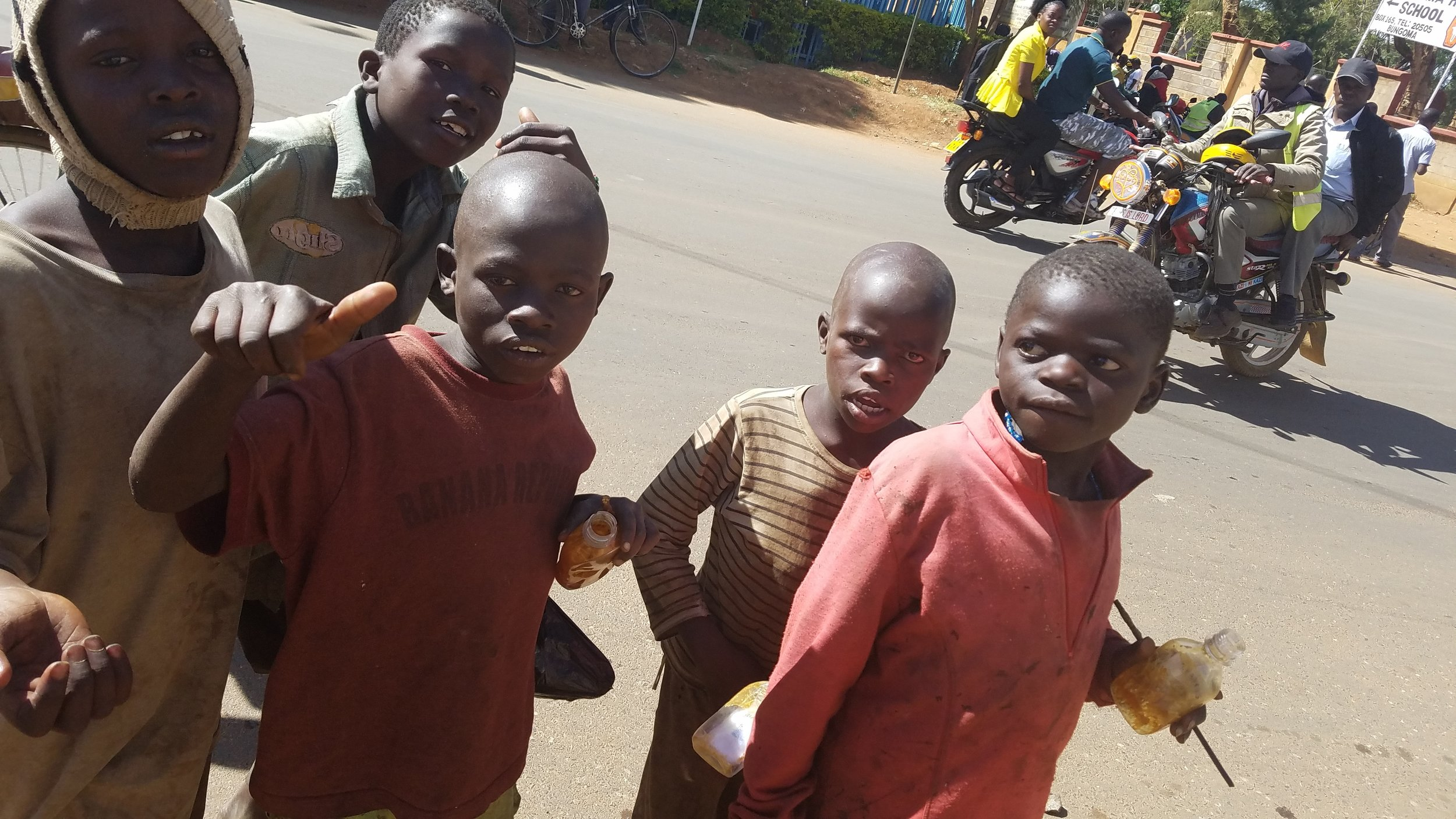 Eugene (second from right) and the other 4 boys on that day in December 2016.