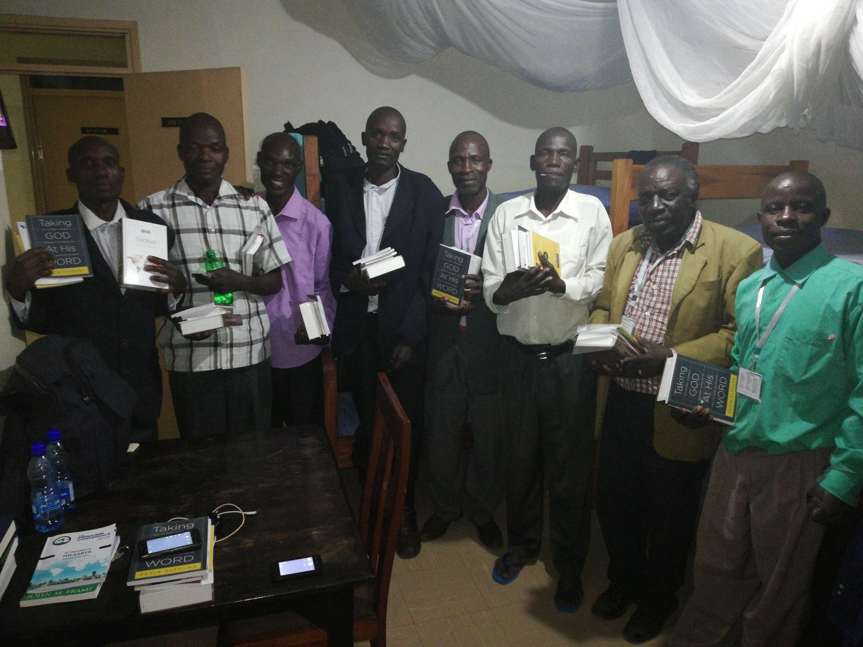 Thanks to generous donors, we were able to supply these pastors with some of their first theological resources. — with  Moses Wamukota ,  Stephen Barasa ,  Samson Muyenga Walala  and  Moses Simiyu .