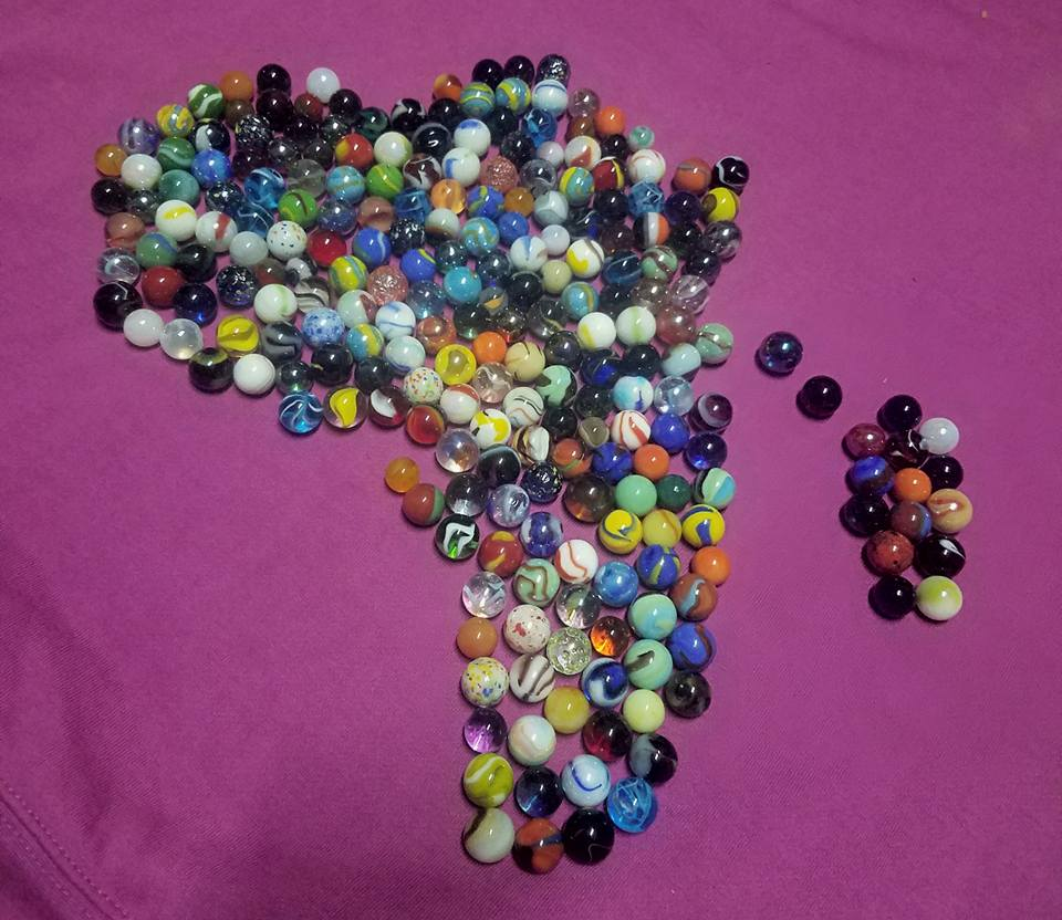 our new variety of marbles made into the continent of Africa and Madagascar