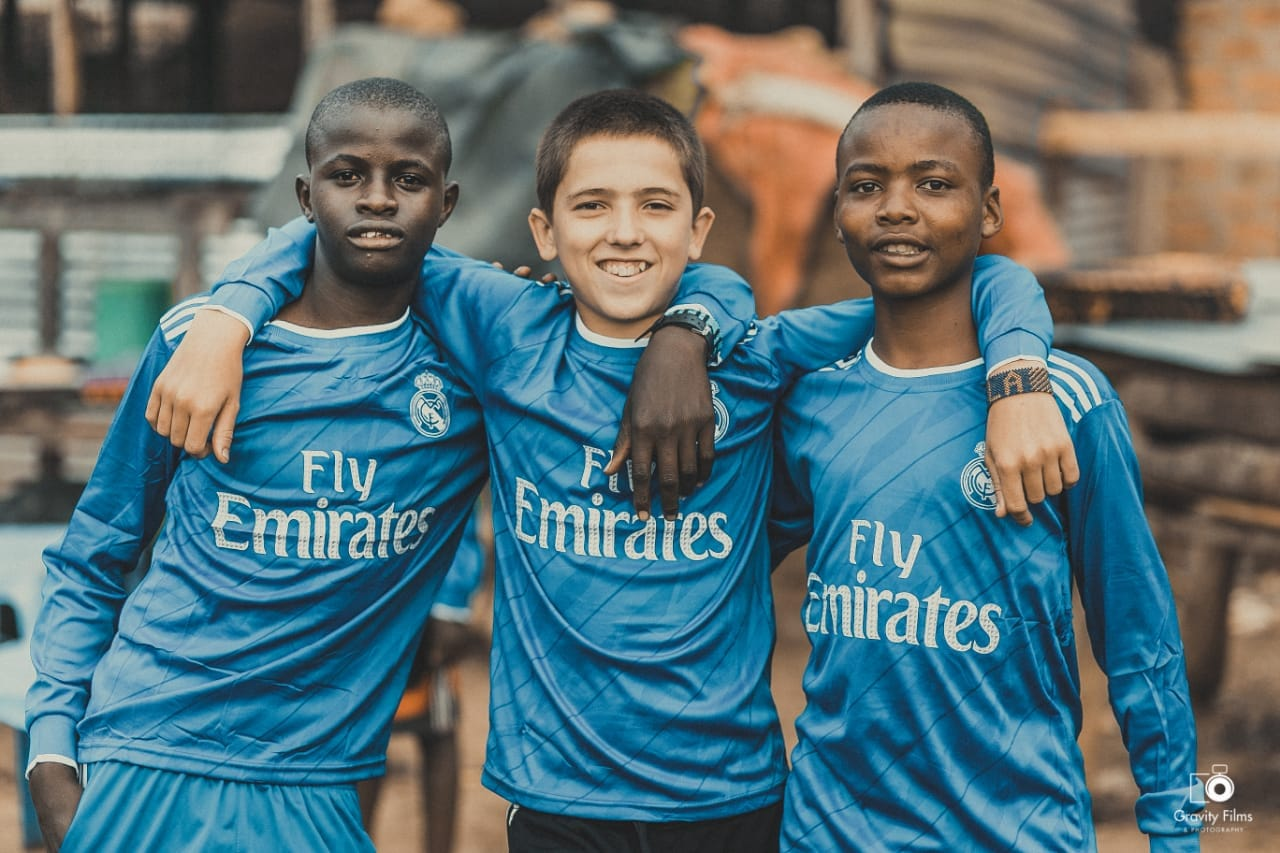 Our Handsome boys!  Just imagine, just a short time ago, Brandon didn't know these two on each side and while he was living a typical american boy life, these others were begging on the streets of Bungoma trying to stay alive. Now they are best buds. Loving life.