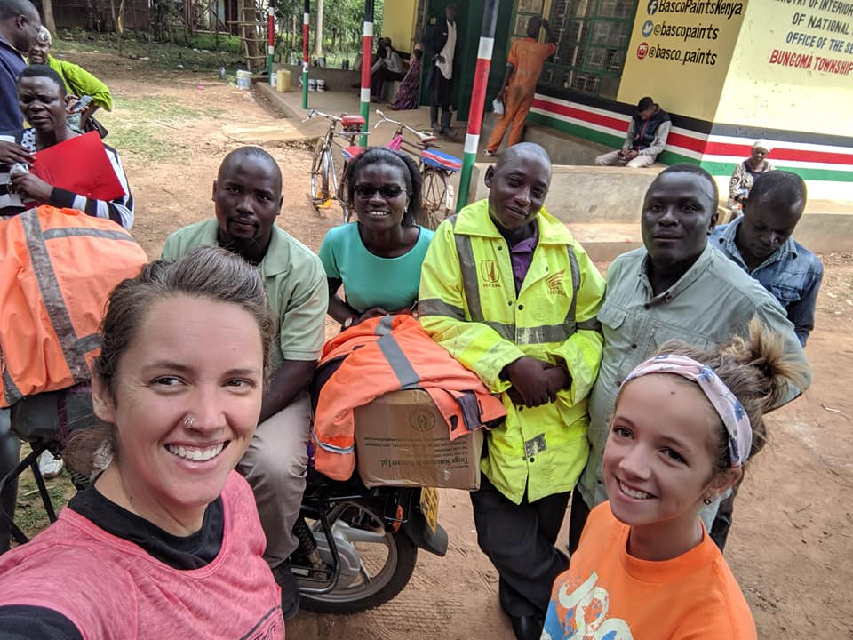 Me and AvaJoy with Dottie and our transportation staff… Left to right, Barasa, Dottie, Nickson, and Kepha