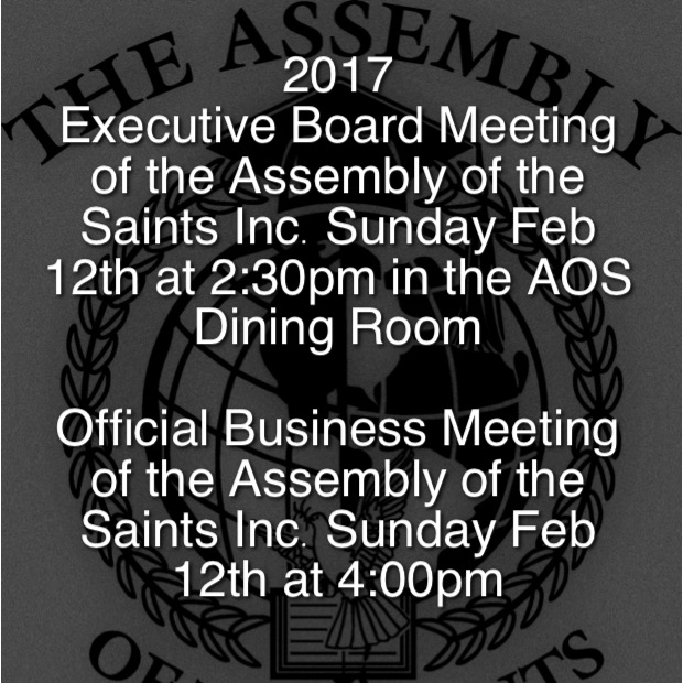 DON'T MISS THIS YEARS ANNUAL BUSINESS MEETING AT 4:00PM