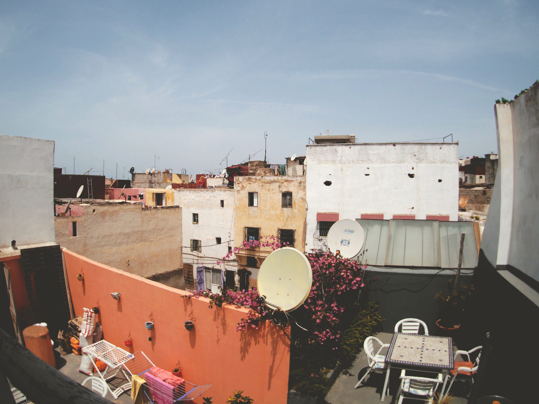 Morning on the rooftops of Salé