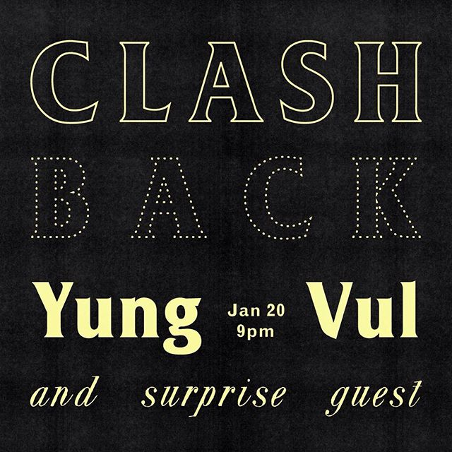Surprise surprise... me & harbinger project will be combining forces with yung vul... man oh man. Ace hotel!