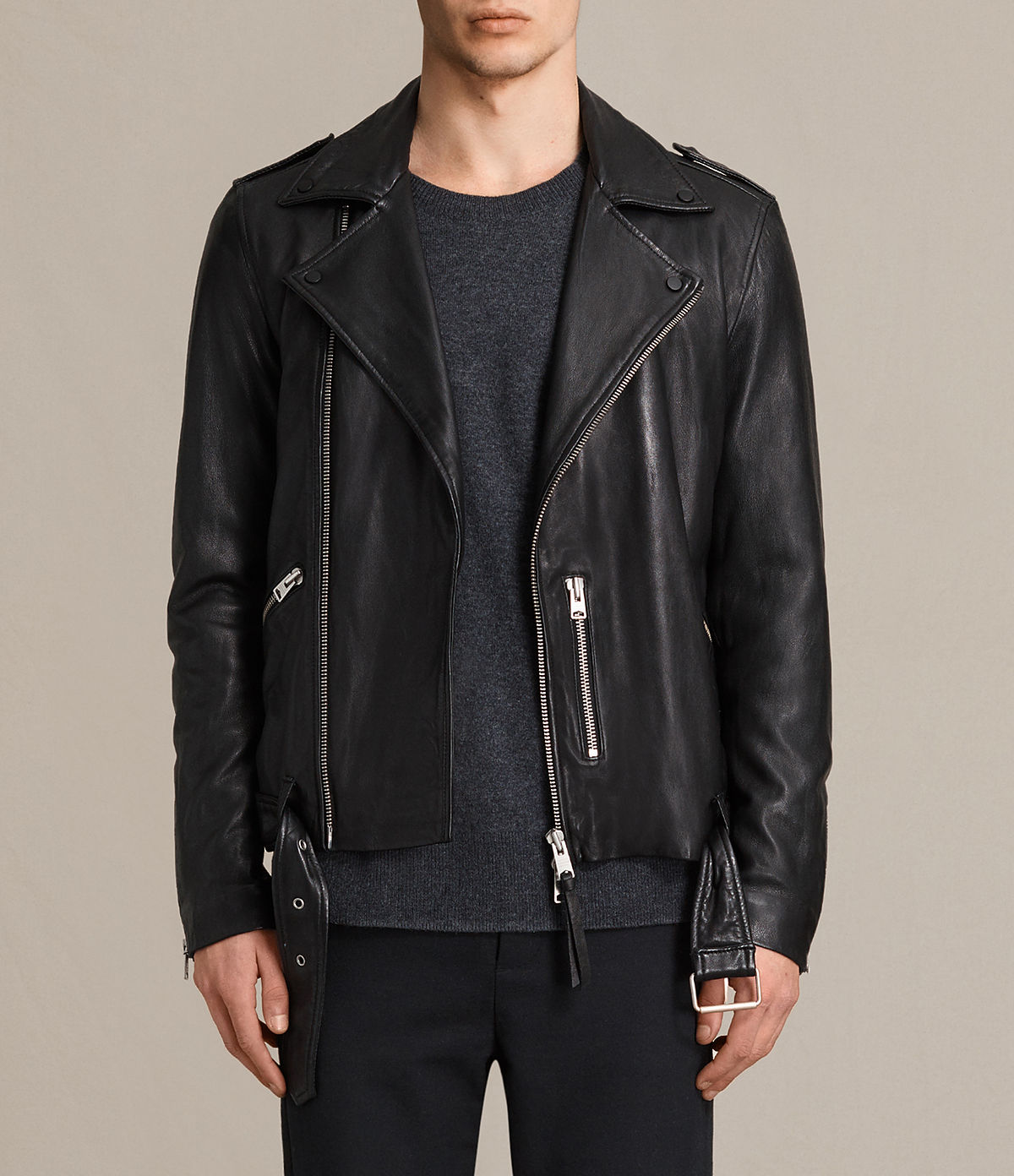 AllSaints Kahawa Leather Biker Jacket