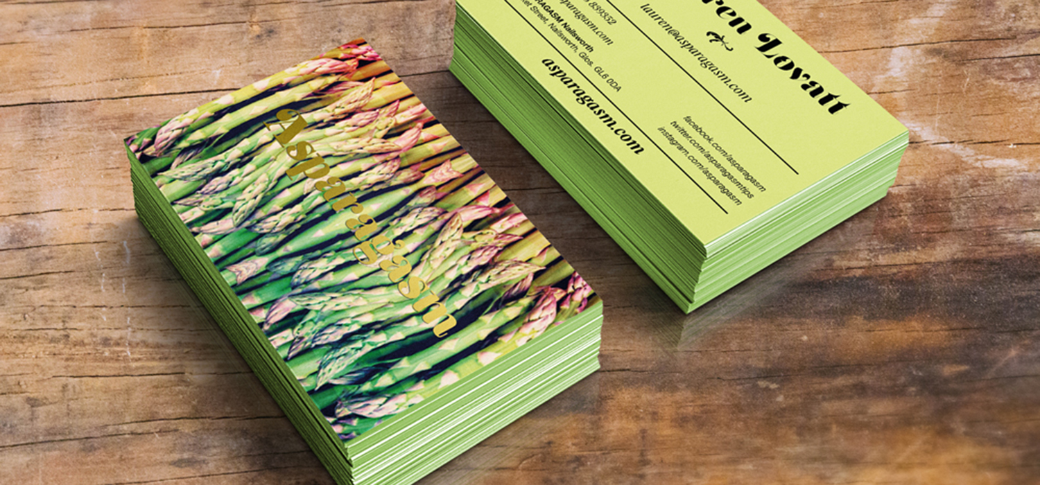 Asparagasm Business Cards