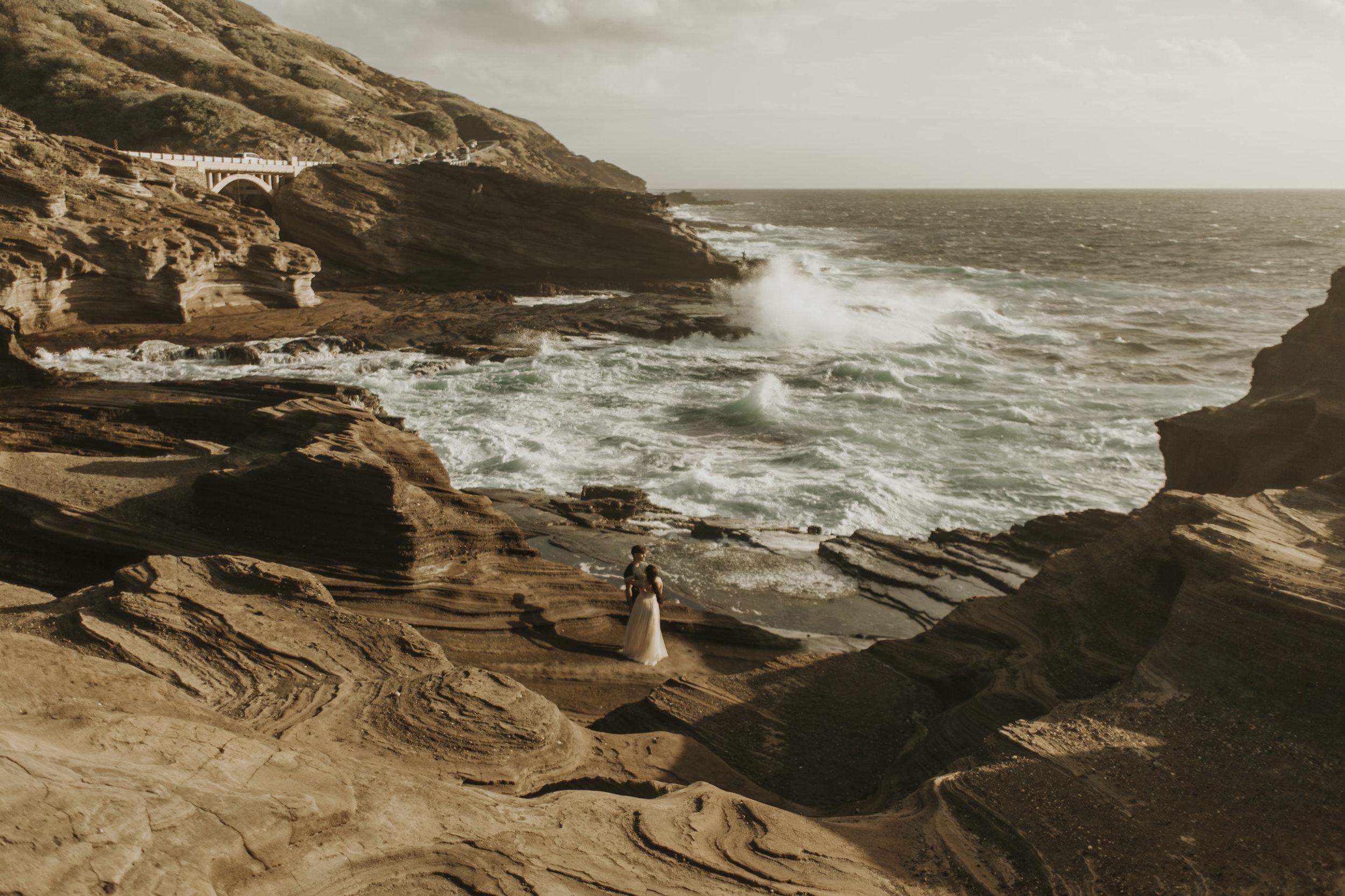 East Coast Of Oahu at Sunrise - Wedding Photography on Oahu, Hawaii