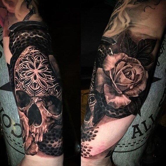 Best Tattoo Artist In Roseville Chuck James