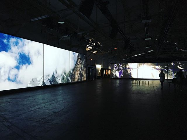 COAL + ICE, a documentary photography and video exhibition featuring 40 photographers from around the world visually narrating consequences of climate change. The imagery is projected or illuminated in a dark and massive space with almost no text or sound. These images tell so many stories. At Fort Mason through Sept 24, 2018. #coalandice coalandice.org