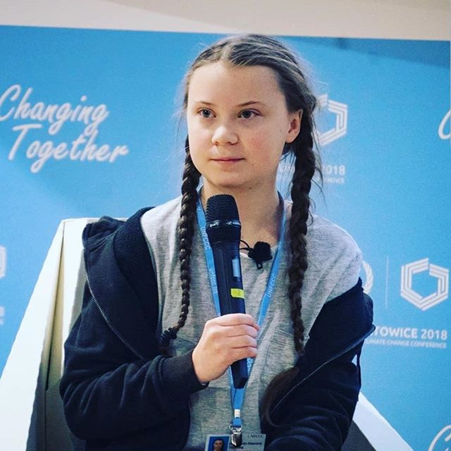 In awe of this young activist,  Greta Thundberg. If you haven't seen her yet, search her name and watch her. Follow her. Listen to her. Then join the fight to challenge systems that promote climate crisis dismissal. LINK TO HER SPEECH AT COP24 IN MY BIO. This is our future. THANK YOU @gretathunberg 💙 #climatestrike
