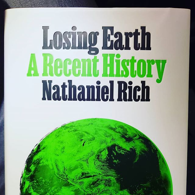 "My date with Earth Day was going to hear author Nathaniel Rich talk about his new book, ""Losing Earth."" He's a writer at large for NYT magazine, and it would seem, cultural historian of the modern environmental movement. The book is the human story of the climate change story. As overwhelming as this issue is, it is easy to lose our footing and fall into tropes of apocalypse and extinction. But in fact, there is a huge range of outcomes available to us, and several variables needed for change. That means there are options, many institutions and organizations reorienting themselves to climate crisis, and more and more nations seeing this issue as a unifying issue in our society moving forward. There is a *massive amount* of work to still do and powerful forces moving away from where we need to go, but a transformation in the dialogue is starting to happen. I felt inspired by his rationalism and knowledge. I can't wait to read it! Will loan it to you when I'm done. 😎"