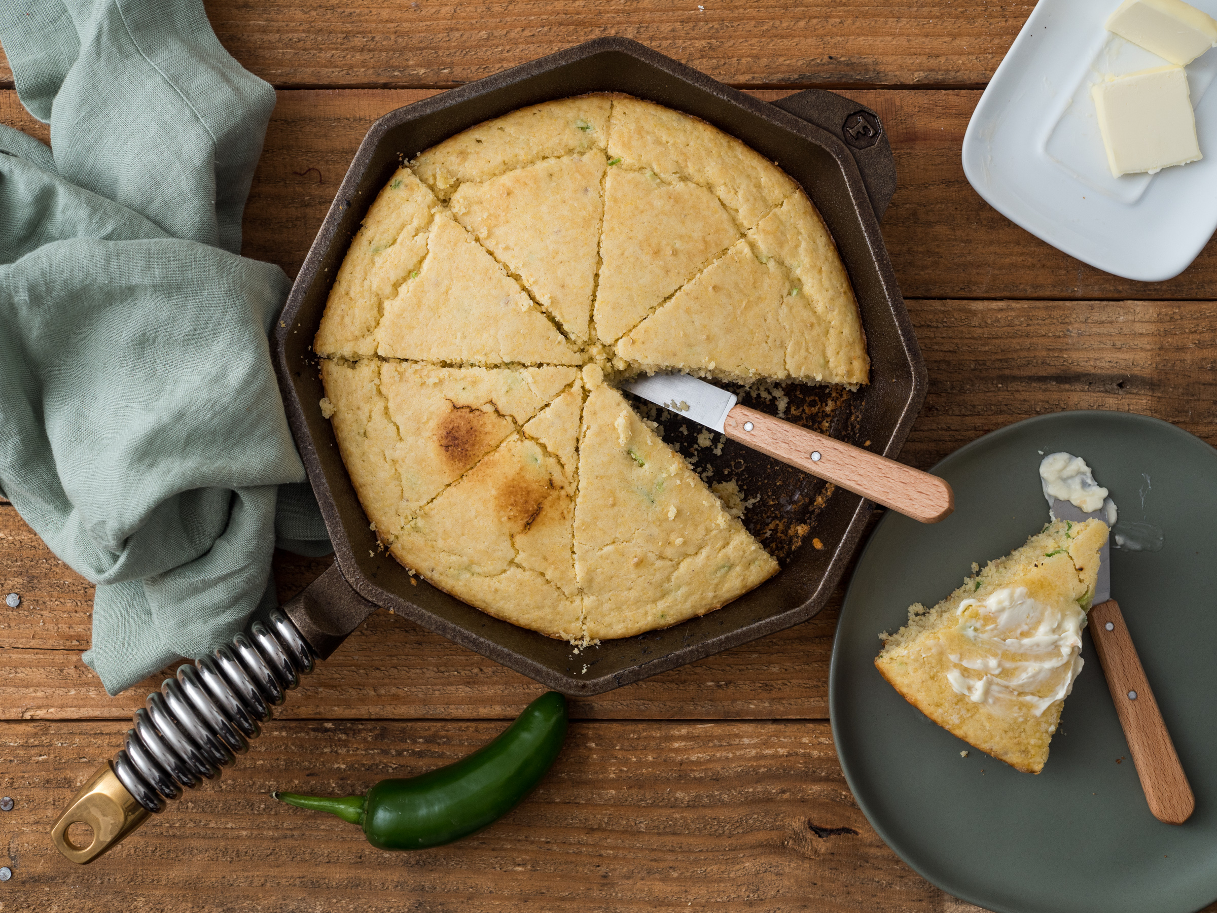 food photographer jeremy pawlowski southern dishes skillet cornbread