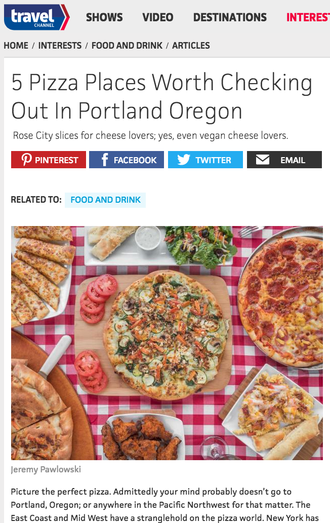 Portland Pizza Joints