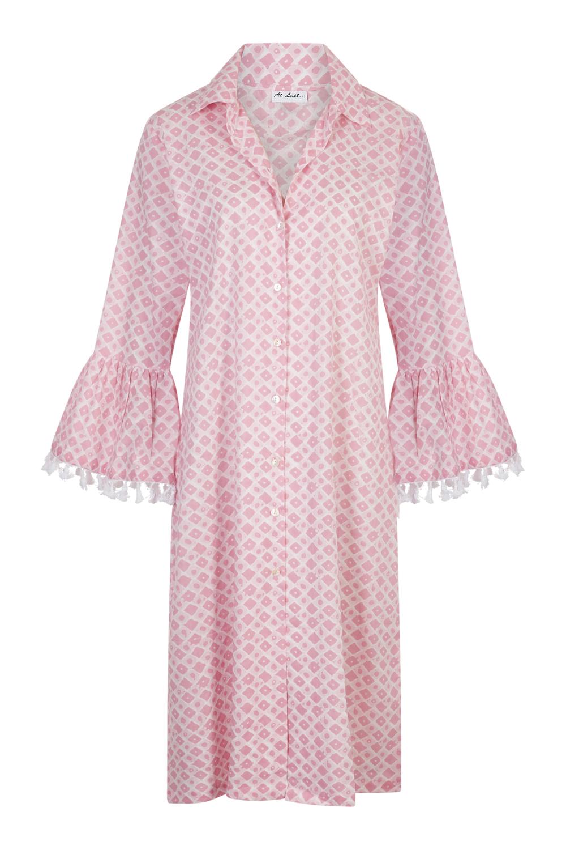 At Last Maxi Coat - Baby pink