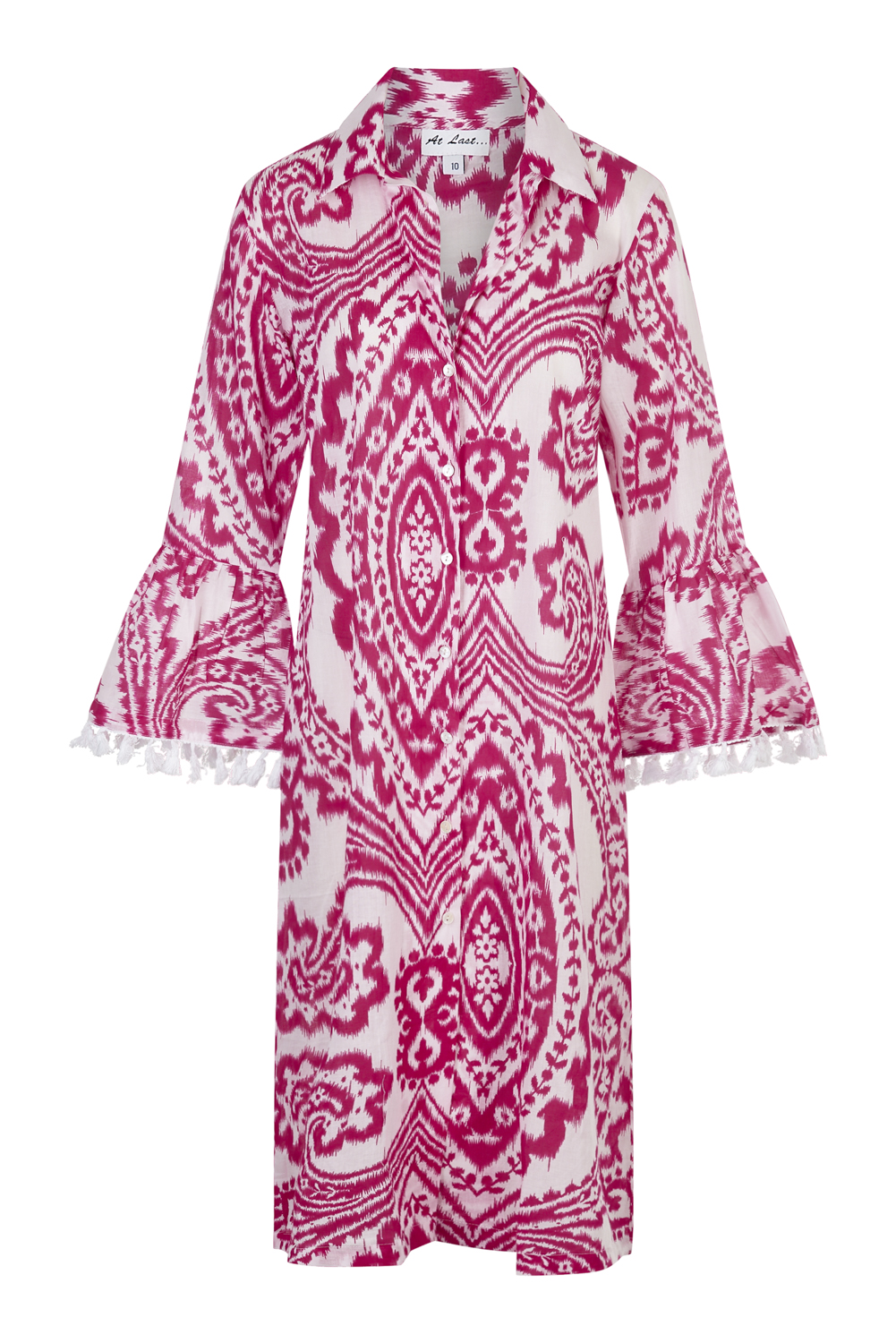 At Last Maxi Coat - Fustian Ikat
