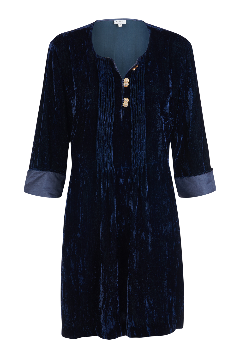 At Last Ferragamo - with diamond buttons Navy