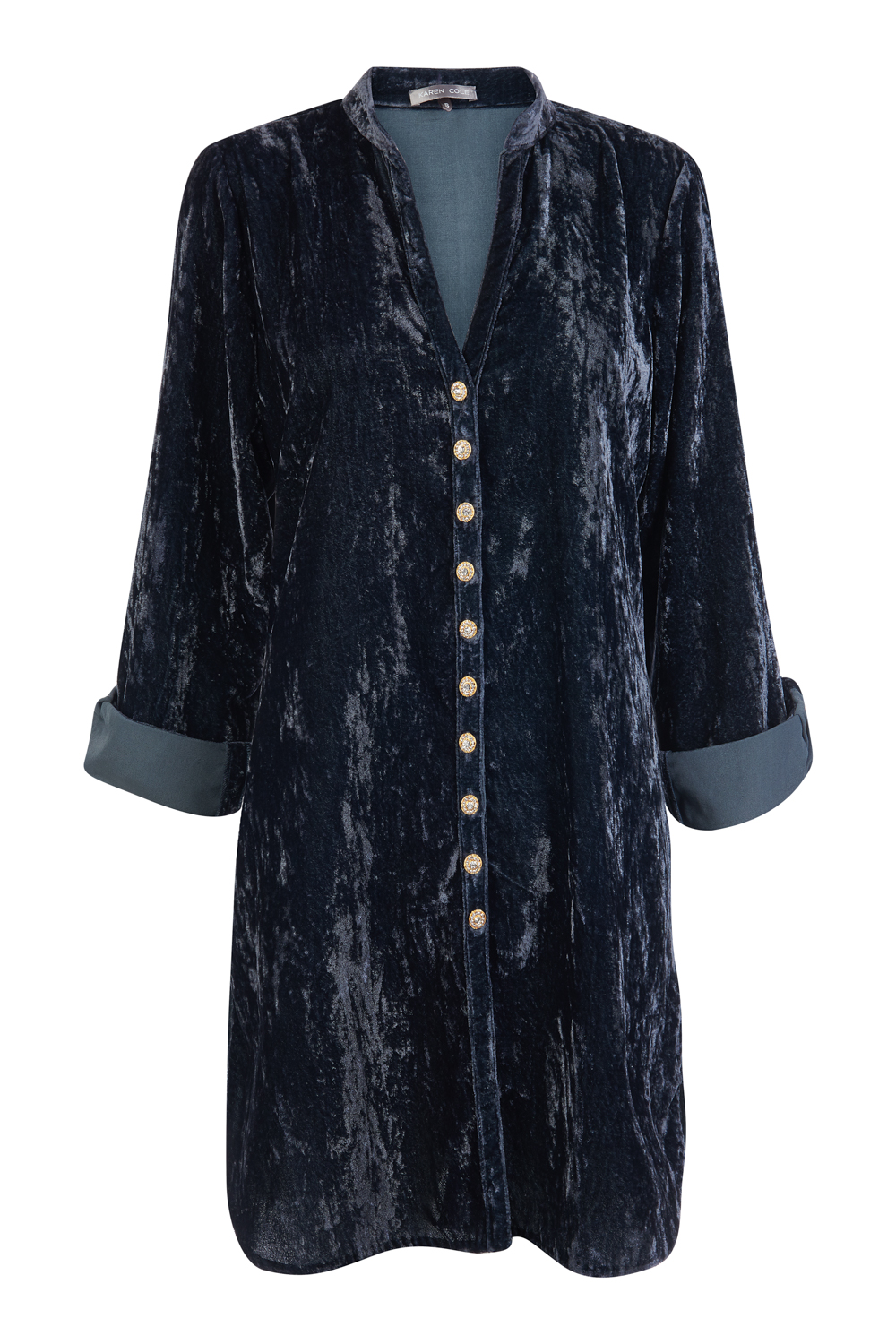 At Last Louise - Diamond Buttons Navy