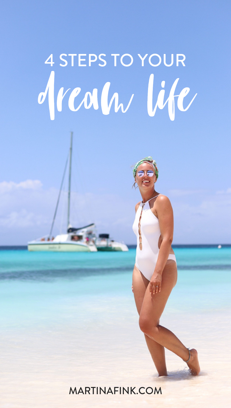 Learn the 4 steps I took to start living my dream life every single day including mindset work, how to heal and more | How to practice self-love and live the life of your dreams with Martina Fink