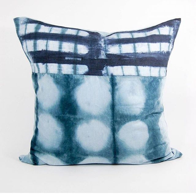 A big THANK YOU! to @designmilkeveryday  for sharing my one-of-a-kind, hand-dyed shibori decorative pillow!  Find this and more at www.ericagimsondesign.com . . . . . . . . . . . . . . #ericagimsondesign #homedecor #design #textiles #handmade #handdyed #shibori #raleighdesign #pillows #patternmixing #interiorinspo