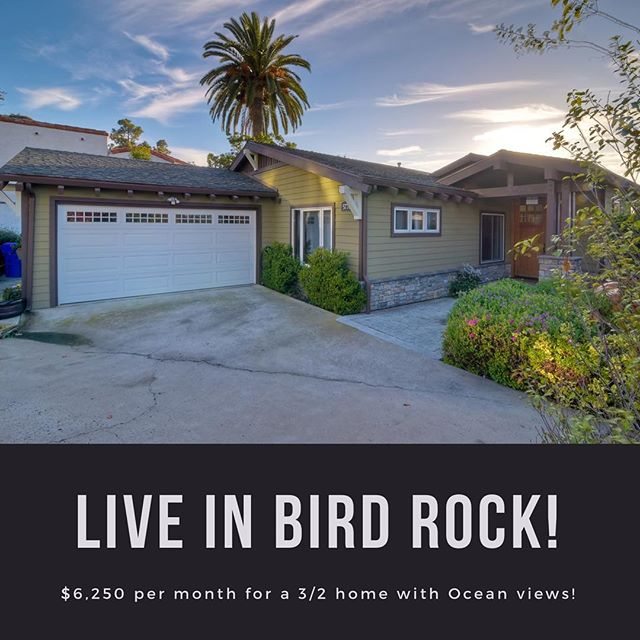 Go to our website to get the details about this amazing 3 Bedroom 2 Bathroom tranquil home in the heart of the Bird Rock Neighborhood in La Jolla. #18doors #sandiegopropertymanagement #birdrock #lajolla