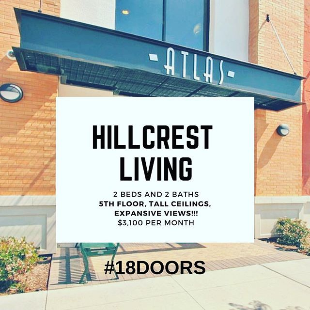 Top floor corner unit located in the Atlas Building in 4th Avenue in Hillcrest.  Check out 18doors.com to see complete details.  #hillcrest #hillcrestcondos #sandiegopropertymanagement #18doors