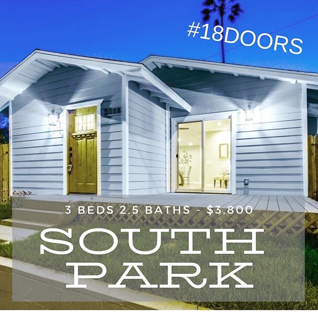 Check out 18doors.com for all of the details on this newly remodeled South Park home.  Available for a May 2nd move in!  #18doors #sandiegopropertymanagement #southpark