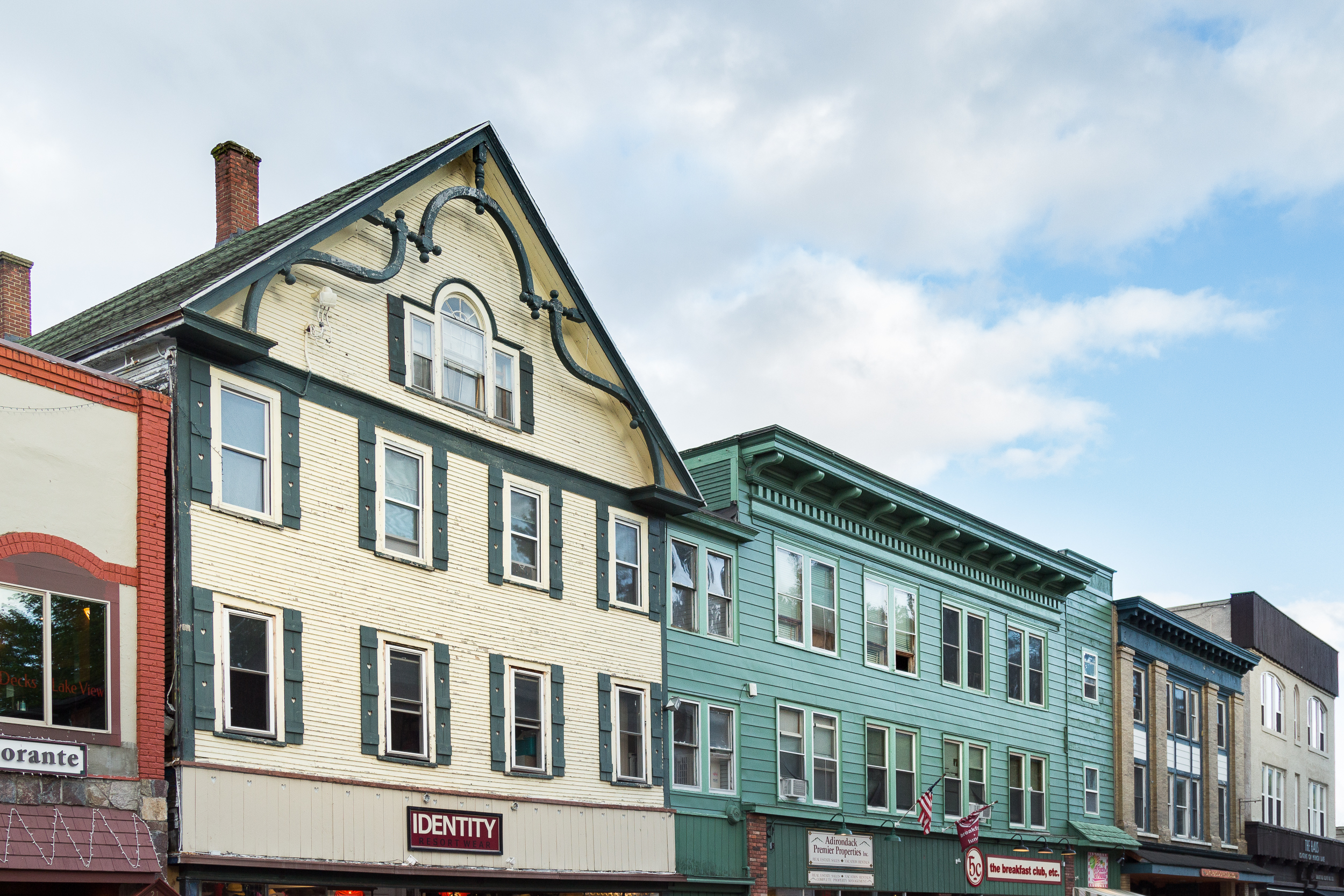 Old time-y Facades. Quaint. *pats Lake Placid on it's head*
