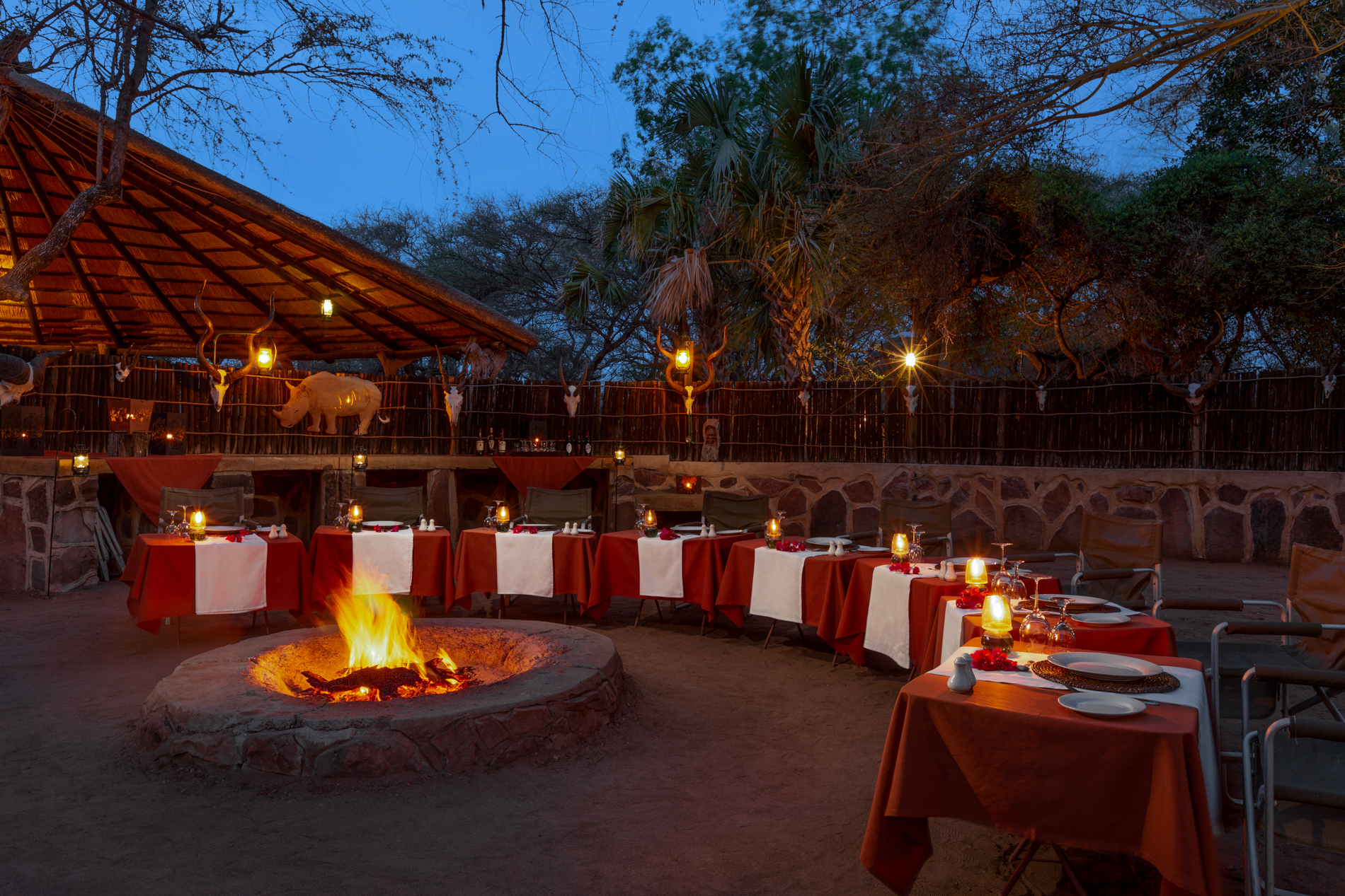 Braii dining experience at luxury game reserve