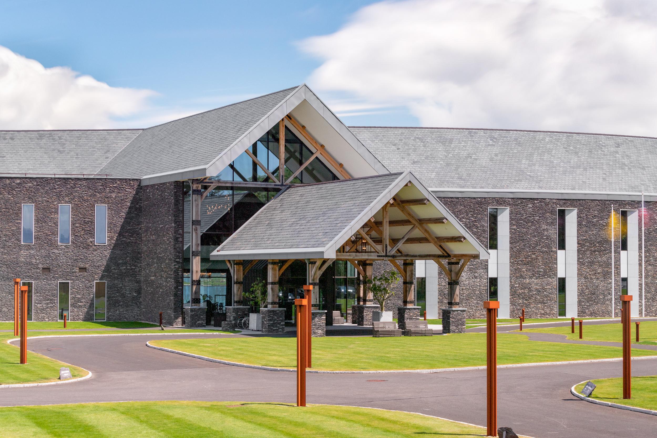 Glenfort Timber Engineering - Hotel Entrance