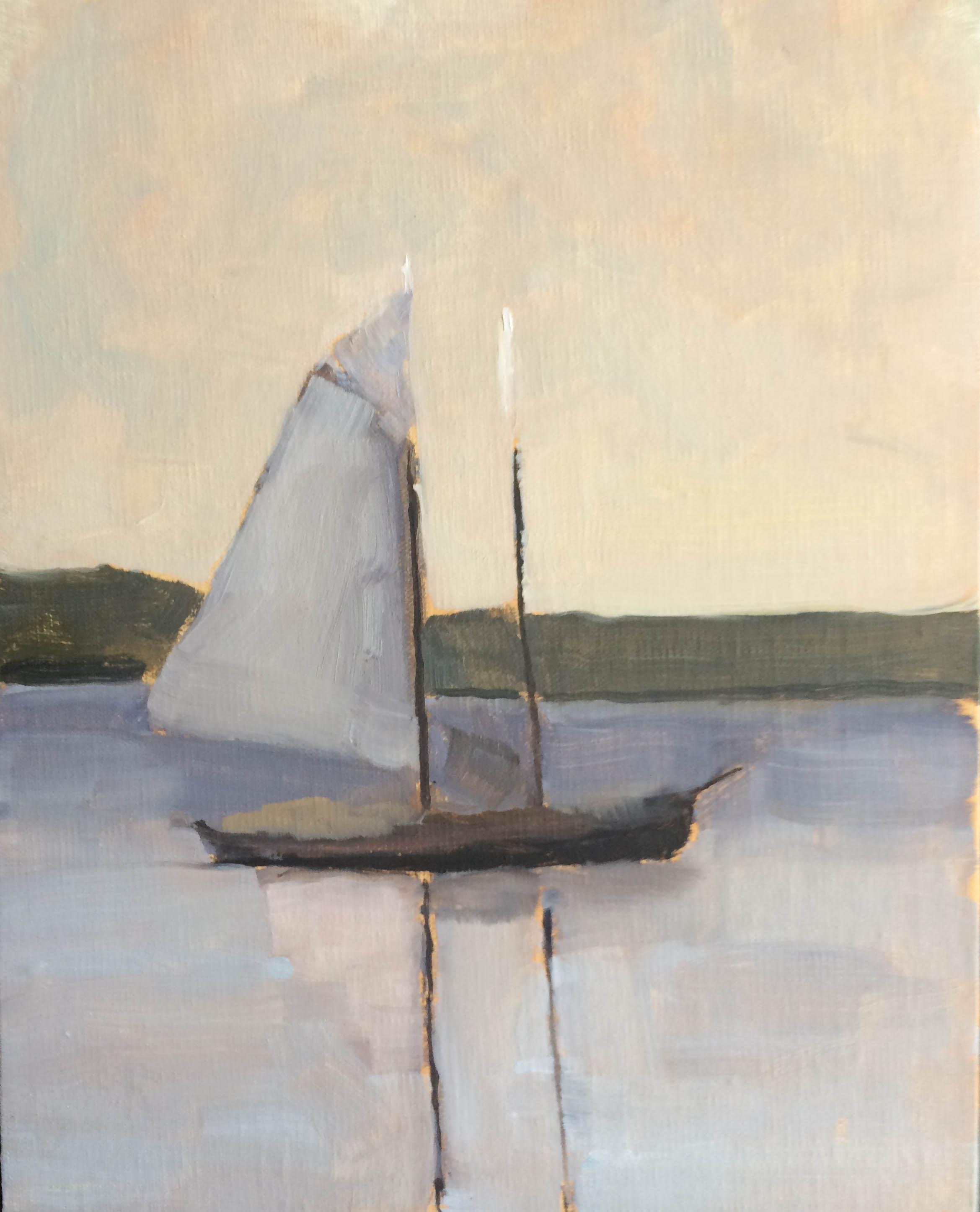 Maine Coast Sailboat